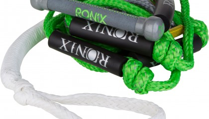 2014 Ronix Bungee Surf Rope 10″ Prequel Hide Grip 25ft 4-Sect. Rope Wakesurf Ropes & Handle